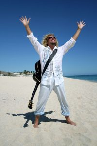 Sammy Hagar on the beach